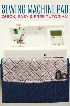 Make a Pad / Mat to put under your Sewing Machine for Easy Access to Tools, etc. Free Video Tutorial with Jenny Doan of Missouri Star Quilt Co! #jennydoan #msqc
