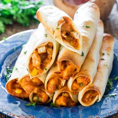 Chicken Taco Taquitos- these yummy chicken taquitos are baked but still cheesy and loaded with delicious goodness!