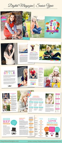 Senior Year Magazine Template for Photographers    #photography #photographer…