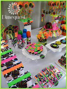 invitacion neon party - Buscar con Google
