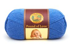 POUND OF LOVE- DENIM - Get great value with our premium worsted-weight yarn in an economical size. This classic,…