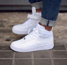 The Nike Ultra Force Mid Essential Trainers - Sneakers Nike - Ideas of Sneakers Nike - The Nike Ultra Force Mid Essential Trainers Cute Sneakers, Sneakers Mode, Shoes Sneakers, Chanel Sneakers, Adidas Shoes, Sneaker Trend, Puma Sneaker, Sneaker Outfits, Nike Fashion