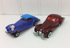 Hot Wheels Metal Flake Paint Series, 1991 Mercedes 540K #164, 1992 Talbot Largo #163 by naturegirl22 on Etsy