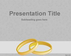 Gold wedding rings PowerPoint template is a free PowerPoint presentation template that you can use for wedding events and wedding presentations