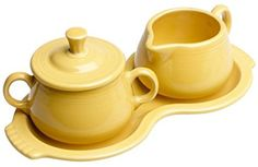 Fiesta Covered Sugar and Creamer Set with Tray, Sunflower affiliate link