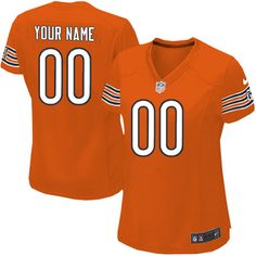 Women Nike Chicago Bears Customized Limited Orange Alternate NFL Jersey Sale