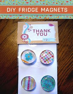 Fridge magnets DIY (using clear dots and craft paper)