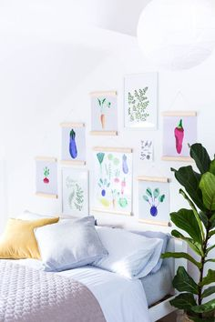How to Create a Slanted Roof Picture Wall & DIY Half Circle Picture Frames