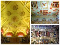 """Ceilings damaged by earthquake in the process of renovation - """"5 Favorite Highlights of Ferrara Italy"""" by @Catherine Sweeney"""