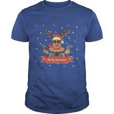 Motorcycle merry christmas - Tshirt
