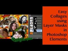 Learn Photoshop Elements - Easy Collages using Layer Masks - YouTube