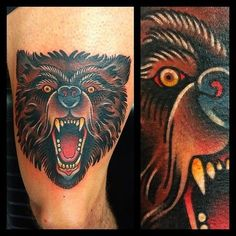 traditional style bear tattoo art - Google Search