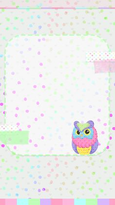 Owl Wallpaper, Hello Kitty Wallpaper, Cute Wallpaper Backgrounds, Cute Wallpapers, Iphone Wallpapers, Paper Owls, Heart Wall, Cute Owl, Cover Photos