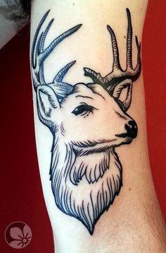 Sorce: http://springtattoo.com ------ deer #deer #head