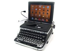 USB Typewriter Computer Keyboard -- Royal Deluxe with Mottled Finish and Chromed Accents