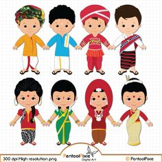 Children of India clipart, Children, Unity clipart, Ethnic Kids, Asian children India For Kids, Board Decoration, Map Background, Kids Around The World, Asian Kids, Clip Art, Thinking Day, Felt Patterns, Holiday Themes