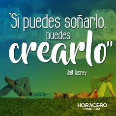 """""""Si puedes soñarlo, puedes crearlo"""" Walt Disney #frases #citas #frasedeldía"""
