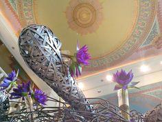 Four Seasons Hotel Bangkok's Lobby is blooming at all seasons. :) #flowers #lotus