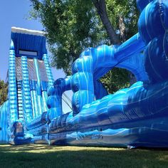 """AZ Bounce Pro on Instagram: """"It doesn't get much bigger than our 40' Blue Mammoth Water Slide!"""" Summer Photos, Water Slides, Things That Bounce, Big, Instagram, Summer Pictures"""