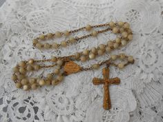 Old rosary 1920's Mother of pearl by Nkempantiques on Etsy, €15.75