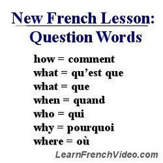 Google Image Result for http://learnfrenchvideo.com/images/french-question-words.jpg #learnfrench #frenchlanguage