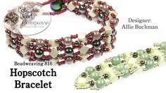 "Make a "" Hopscotch "" Bracelet Design (Using CrissCross cube beads and RounDuo beads)"
