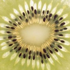 Close-up of Kiwi Fruit in Cross-section