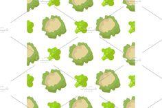 Vegetable Design, Broccoli, Cauliflower, Texture, Vegetables, Illustration, Green, Pattern, Food