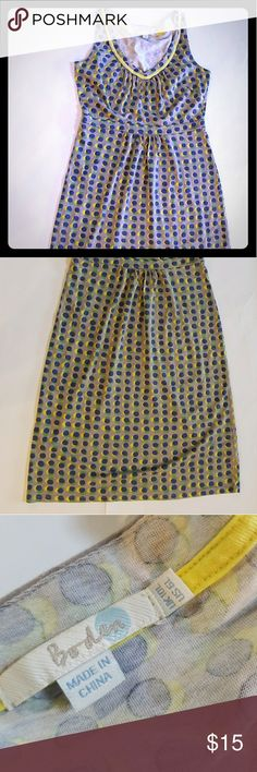 Ladies Boden navy polka dot dress 6l us Excellent condition. Non smoking home Boden Dresses
