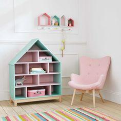 Biblioteca casa infantil de verde y rosa | Maisons du Monde