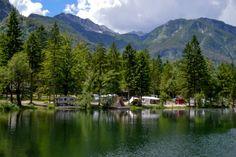 Camping bij het meer van Bohinj