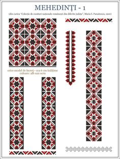 Semne Cusute: ie din Mehedinti, OLTENIA Folk Embroidery, Embroidery Patterns, Cross Stitch Patterns, Fsu Logo, Palestinian Embroidery, Logo Nasa, Fabric Art, Hama Beads, Beading Patterns