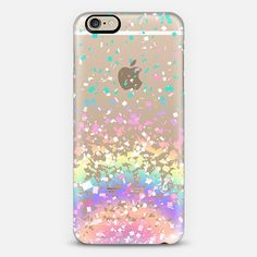 Pastel Rainbow Confetti Explosion Transparent iPhone 6 Case by Organic Saturation | Casetify. Get $10 off using code: 53ZPEA
