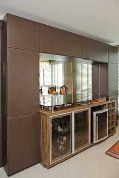 móvel jantar com espaço para adega climatizada
