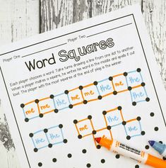 This sight word game is quick and easy making learning on the go fun! Fun Reading Games, Teaching Reading, Teaching Tips, Guided Reading, Fun Learning, Learning Activities, Word Work Stations, Reading Stations, Reading Centers