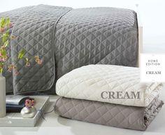 Francouzský krémový přehoz na postel krémové barvy