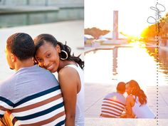 Downtown Engagement Session. Urban engagement. Sunset Engagement. Canal Engagement  www.jackiesantanaphotography.com