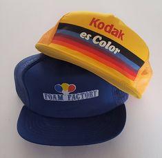 Vintage Lot (2) Trucker Style Snapback Hats VTG 83c1f1d803eb
