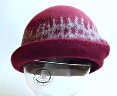Hüte - Filzhut Cloche handgefilzt SeptemberWein - ein Designerstück von…