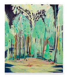 wetreesinart: Jules de Balincourt (Fr. born 1972), The Source, 2014, Oil on panel, 177.8 x 203.2cm