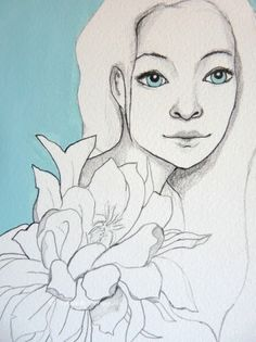 Valerie - Original tegning  Original illustration  Annette Mangseth  epla.no/shops/carambatackdesign