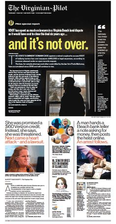The Virginian-Pilot's front page for Thursday, May 7, 2015.