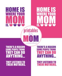 Mother's Day Printables by U Create