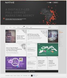 Redesign of digital agency's website