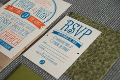 Nick & Sandi's wedding invites #letterpress via Silverplate Press