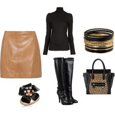 Off to work, created by #mistydtorres on #polyvore. #fashion #style #Vince Miss Sixty