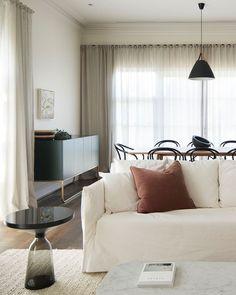 elegant minimalist living space by CJH Studio