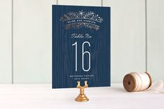 Into the Woods Foil-Pressed Wedding Table Numbers by Hooray Creative at minted.com