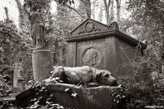 victorian cemetary sculptures | Highgate Cemetery, London, England. Tomb of Victorian bare-knuckle ...
