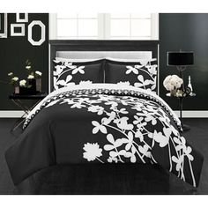 Chic Home Casa Blanca Black Reversible 7-piece  Duvet Cover Set   Overstock.com Shopping - The Best Deals on Bed-in-a-Bag